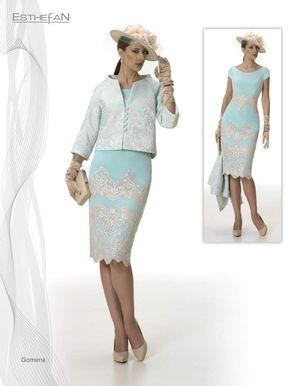 bb22ea349 La colección de vestidos de fiesta y madrina Esthefan 2017 es una de las  firmas más elegantes con una delicada combinación de tejidos y colores.