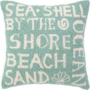 Paradise Script Green Beach Hook Pillow