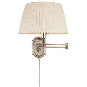 34 97 Hampton Bay 1 Light Brushed Nickel Swing Arm Wall Lamp