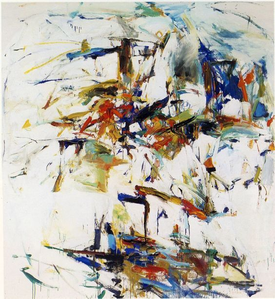 Joan mitchell george went swimming at barnes hole but - How cold is too cold to paint ...