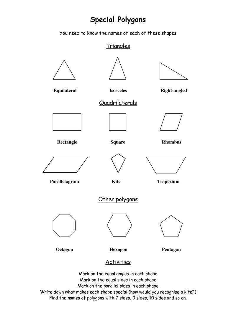 medium resolution of Shapes And Sides Polygons 001   Polygon shape