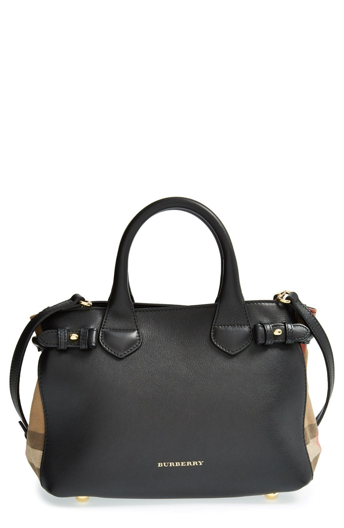 edd3be272e1f New Burberry Small Banner House Check Leather Tote fashion online.   1295