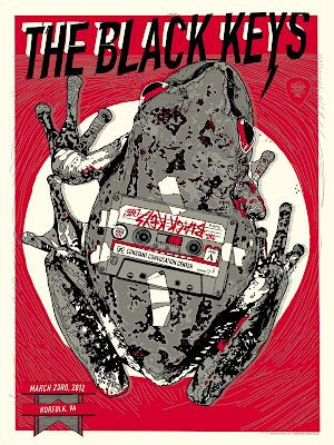 Another Tyler Stout poster for 'The Black Keys'...