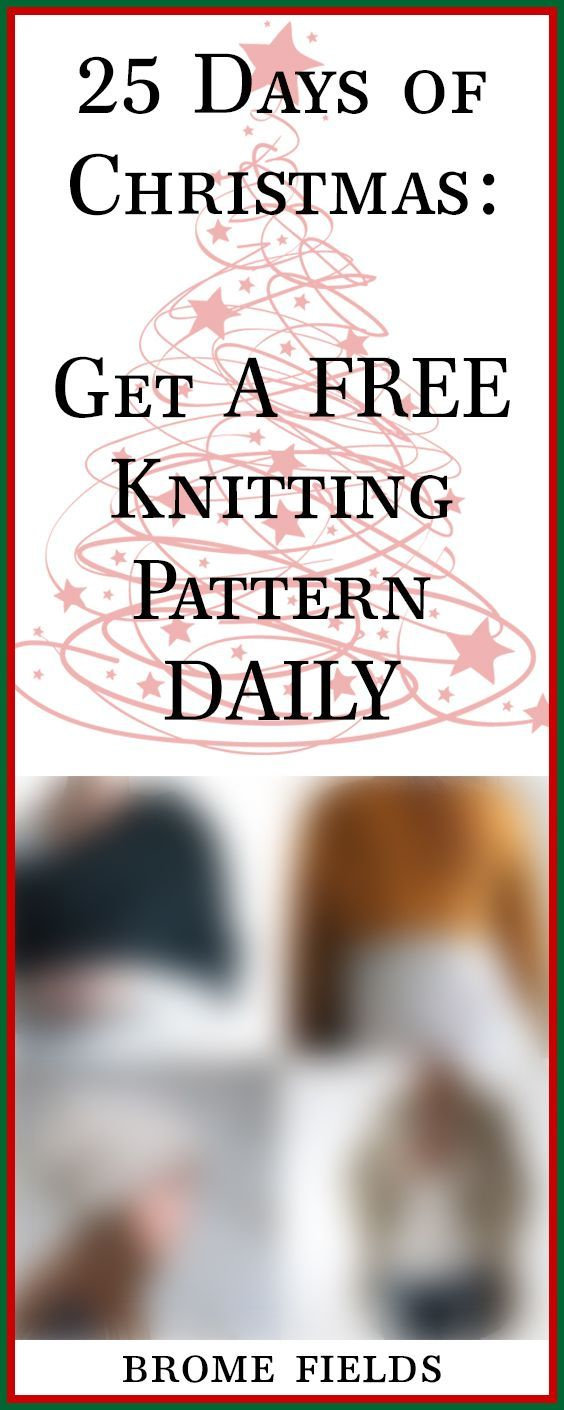 Christmas advent 2017! Collect all 25! Get a free knitting pattern ...