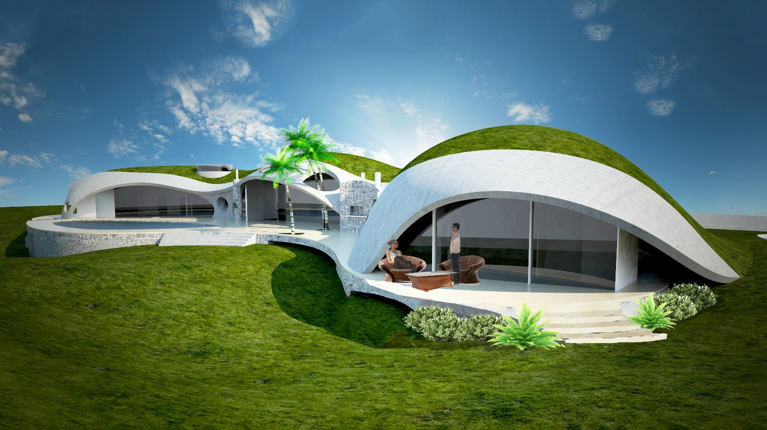 Binishells Design Version 6 Dome House Earth Sheltered Homes Dome Home