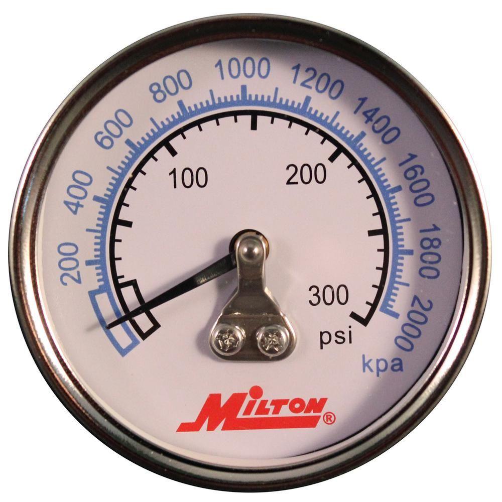 Milton Industries, Inc. 1/4 in. NPT High Pressure Gauge