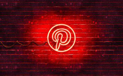 Download imagens Pinterest logo vermelho, 4k, vermelho brickwall, Pinterest logotipo, redes sociais, Pinterest neon logotipo, Pinterest besthqwallpapers.com