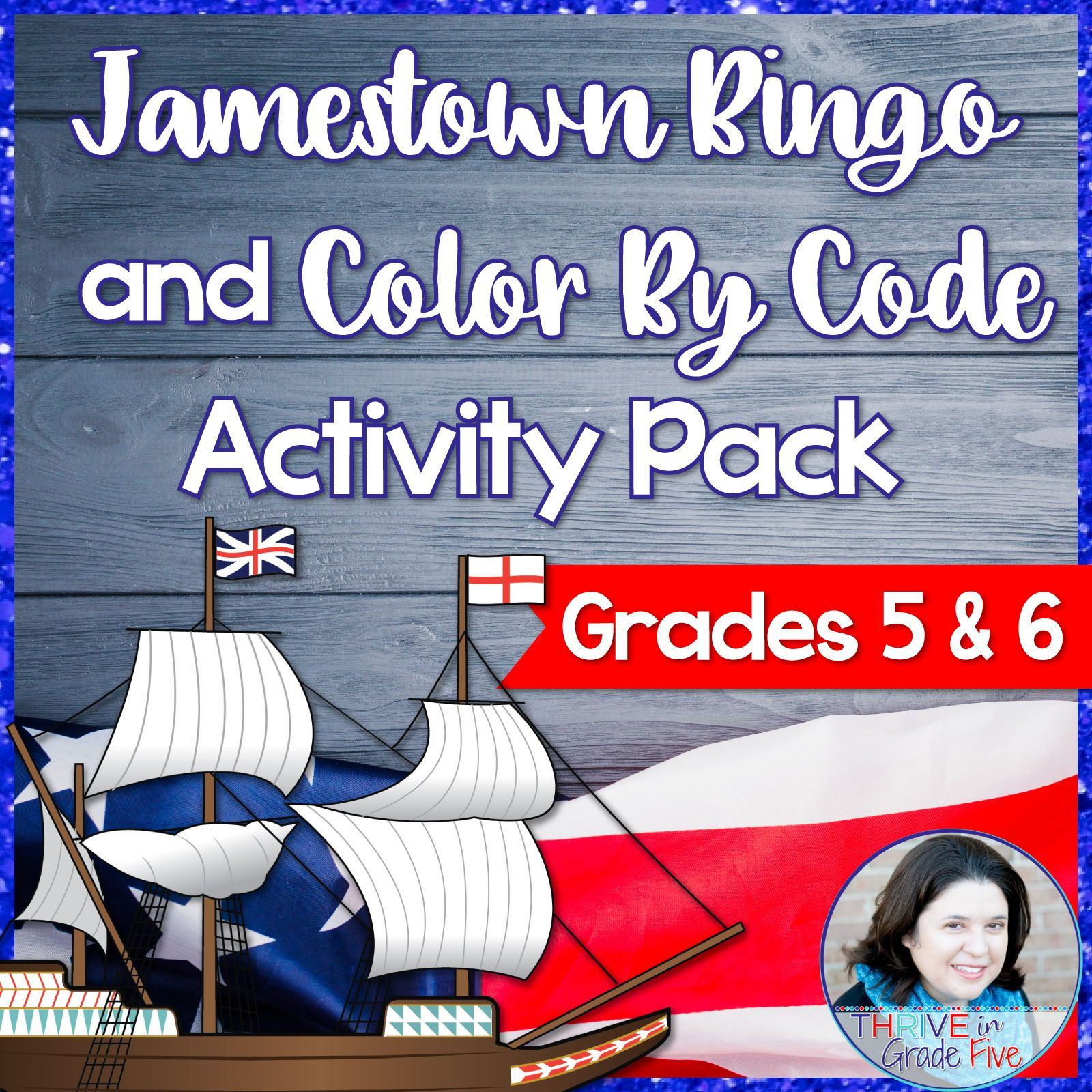 Jamestown Bingo And Color By Code Activity Pack