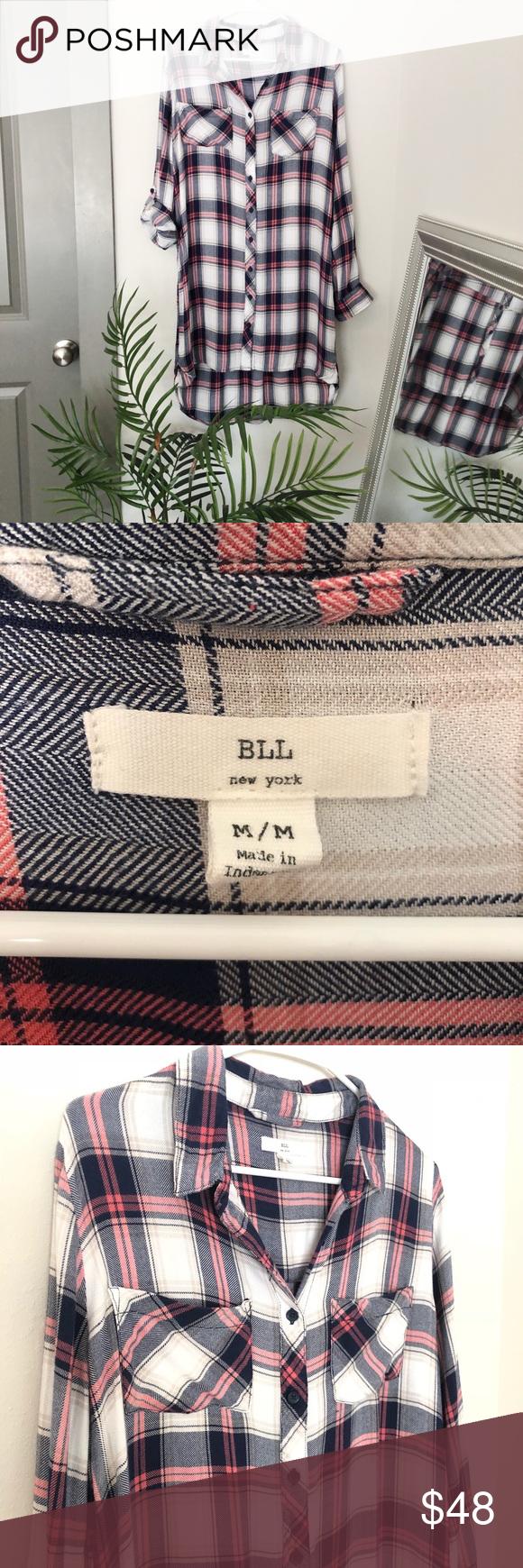 Off white red flannel shirt  BLL plaid button down dress  My Posh Closet  Pinterest  Plaid