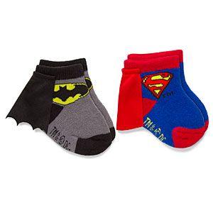 ThinkGeek :: Superhero Infant Caped Socks 2-Pack