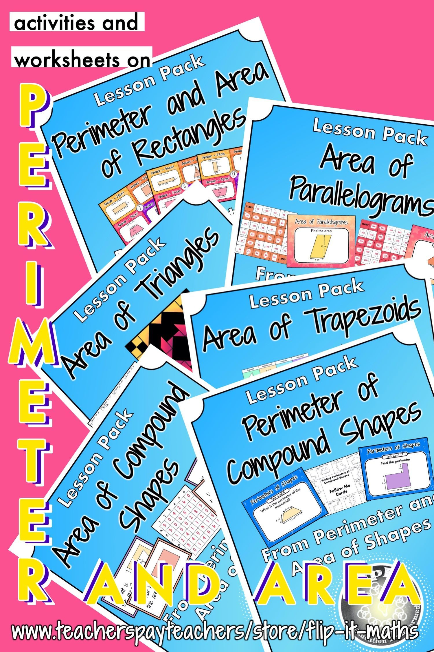 Perimeter And Area Of Shapes Bundle In
