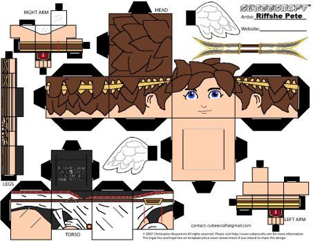 Pit Kid Icarus Cubeecraft by RiffshePete