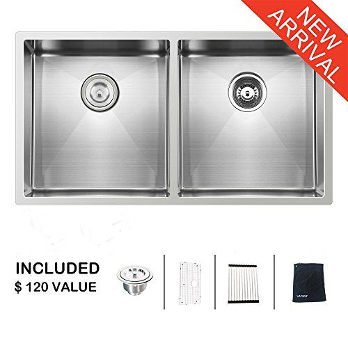 Ufaucet Commercial 33 Inch 18 Gauge 10 Inch Deep Apron Un Stainless Steel Kitchen Sink Stainless Steel Kitchen Undermount Stainless Sink