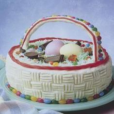 Mounds Coconut Easter Basket Cake