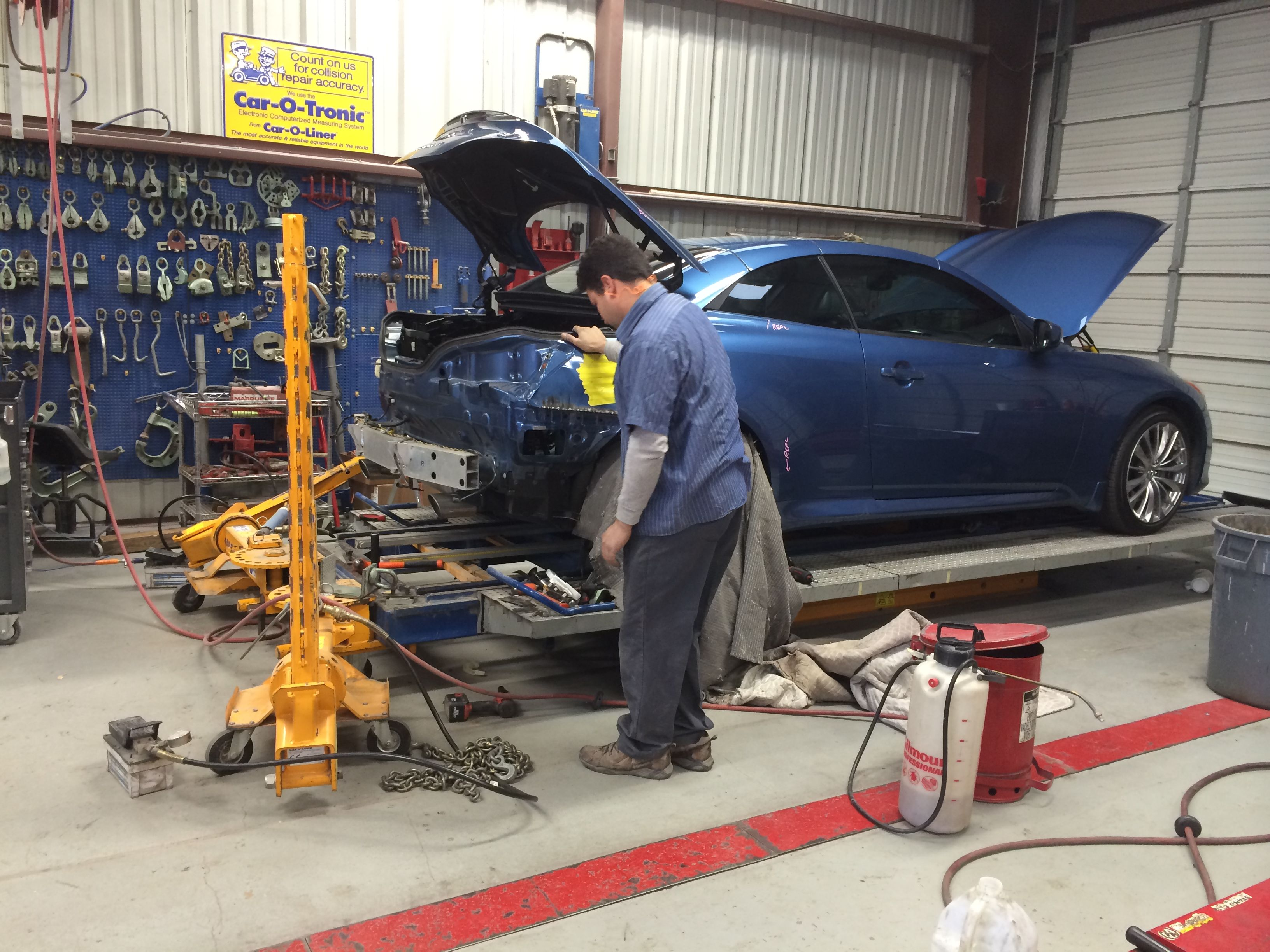 accurate repairs made using state of the art car o liner frame straightening equipment