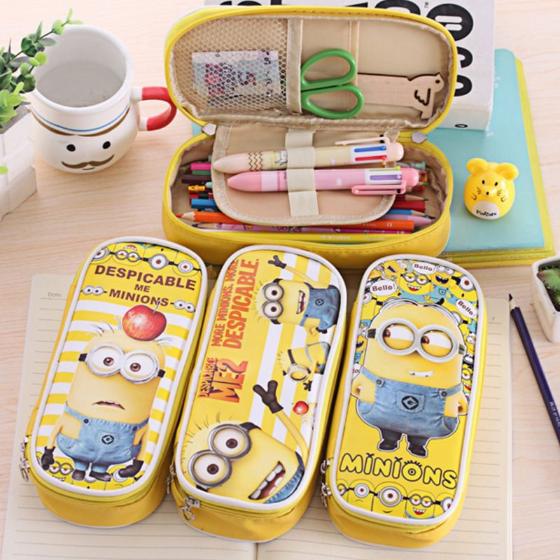 Despicable Me Minion School Pencil Case FREE NOVELTY PEN WITH SOUND GIFT