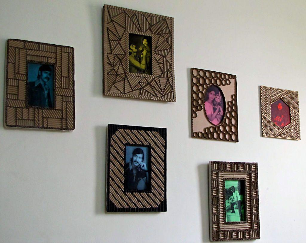 Designer Cardboard Photo Frames A Mega Tutorial Cardboard Photo