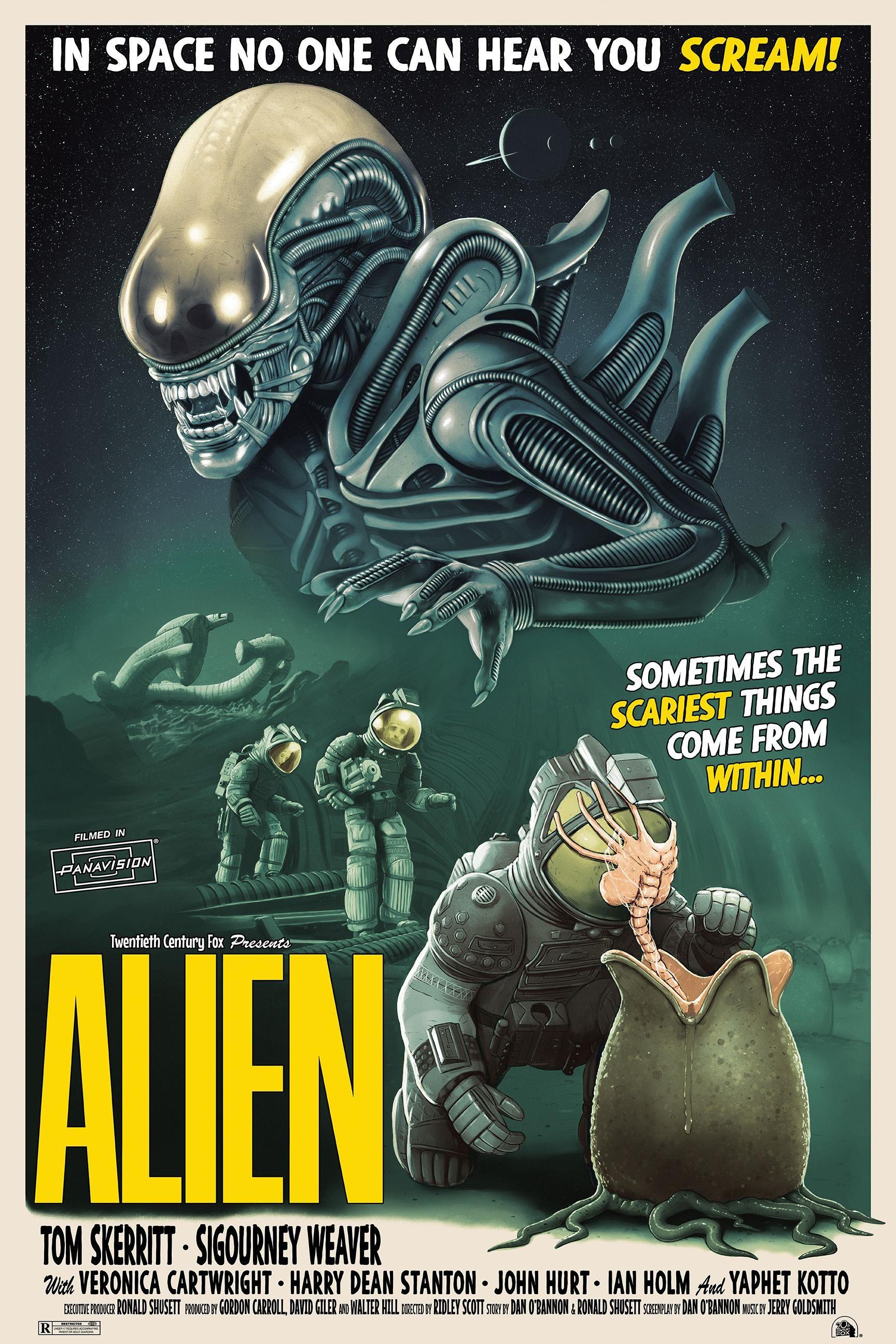 Alien 1971 600 X 800 By Tom Walker Alien Movie Poster Horror Prints Movie Posters