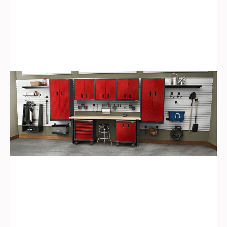 Shop Gladiator Premier 30 In W X 65.25 In H X 18 In D Steel Freestanding Or  Wall Mount Garage Cabinet At Lowes.com