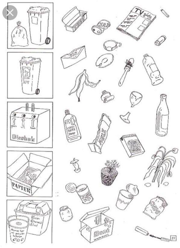pin von hooge auf affaldssortering | kinder arbeitsblätter