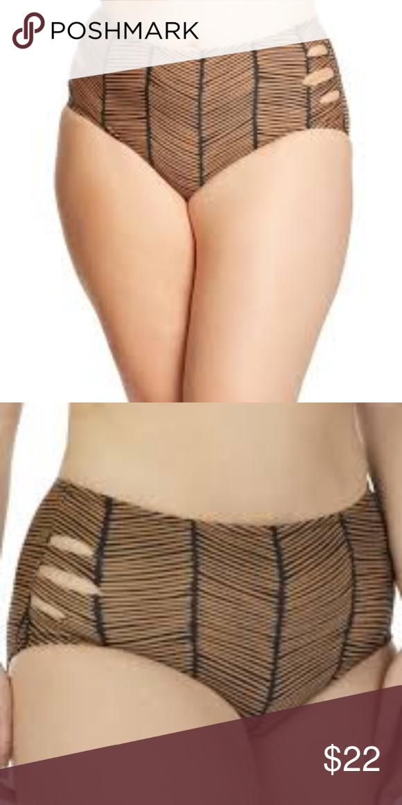 77dfd0a2e5f Raisins Curve Plus Size Maharani Bottoms Raisins Curve Plus Size Maharani High  Waist Bikini Bottom Bikini bottom features high-waisted design with three  ...