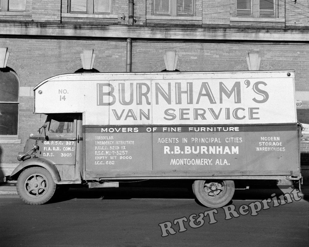 Details about Photograph Vintage Burnham Furniture Moving Truck