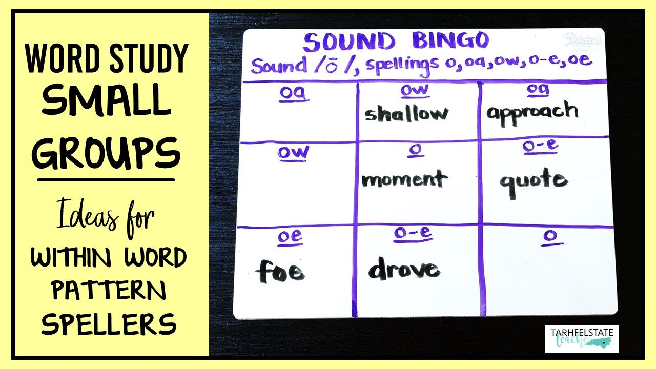 Word Study Small Groups Within Word Pattern Stage Activities Word Study Activities Word Study Word Patterns