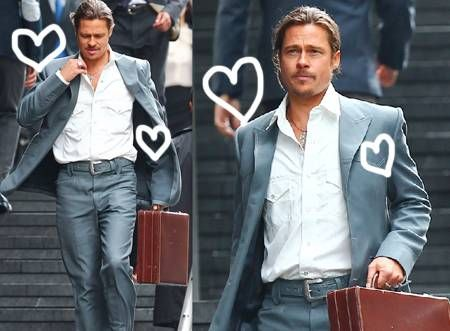 Now THAT is one sharp-dressed man!!! Brad Pitt was spotted ...