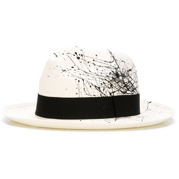 Sensi Studio Splatter Print Panama Hat (1 500 SEK) ❤ liked on Polyvore featuring accessories, hats, panama straw hat, sensi studio, pattern hats, straw hat and sensi studio hats