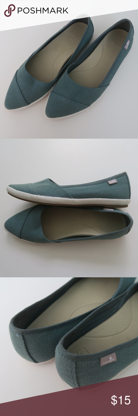 11ce9e489b182 Sanuk Women's Kat Prowl Pointed Flats - Size 5.5 * Used, in good ...
