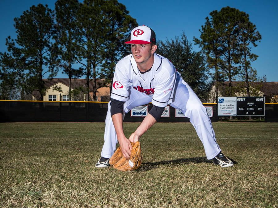 Forrest Wall from Orangewood Christian school poses for a