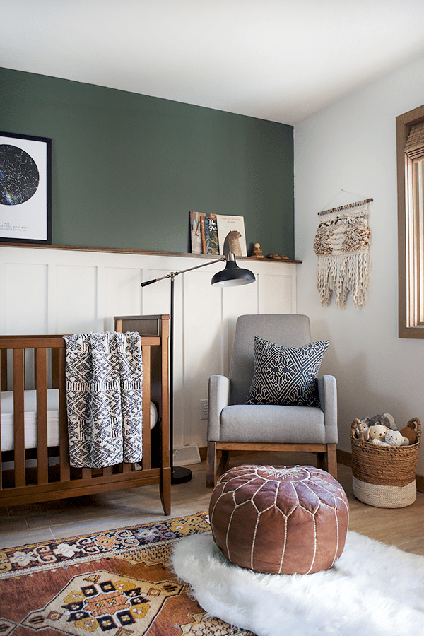 Modern and Vintage Boy's Nursery Reveal | brepurposed