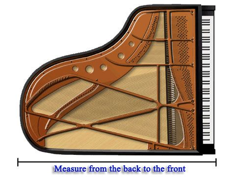 How To Measure A Grand Piano Measure From The Back Edge Of The Lid To The Front Of The Keyboard My Style In 2019 Baby Grand Piano