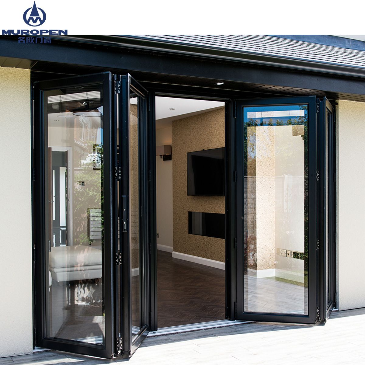 Australia Standard Aluminum Bi Folding Doors Main Front Doors