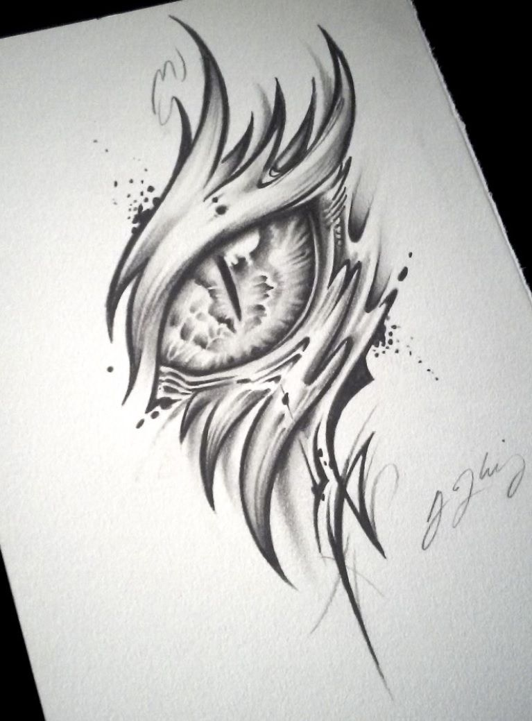 Dragon Eye Tattoo Alpha By J Kings Art Art Pinterest Desenho