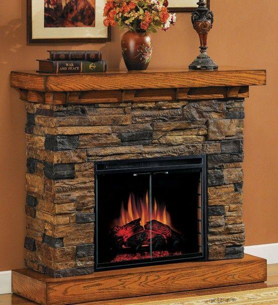 Fireplace Mantels Dengan Gambar Perapian