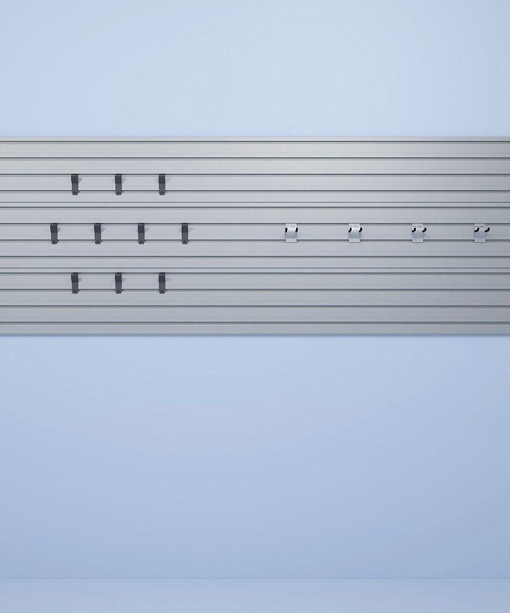 Silver 14-Hook Flow Wall Organizer
