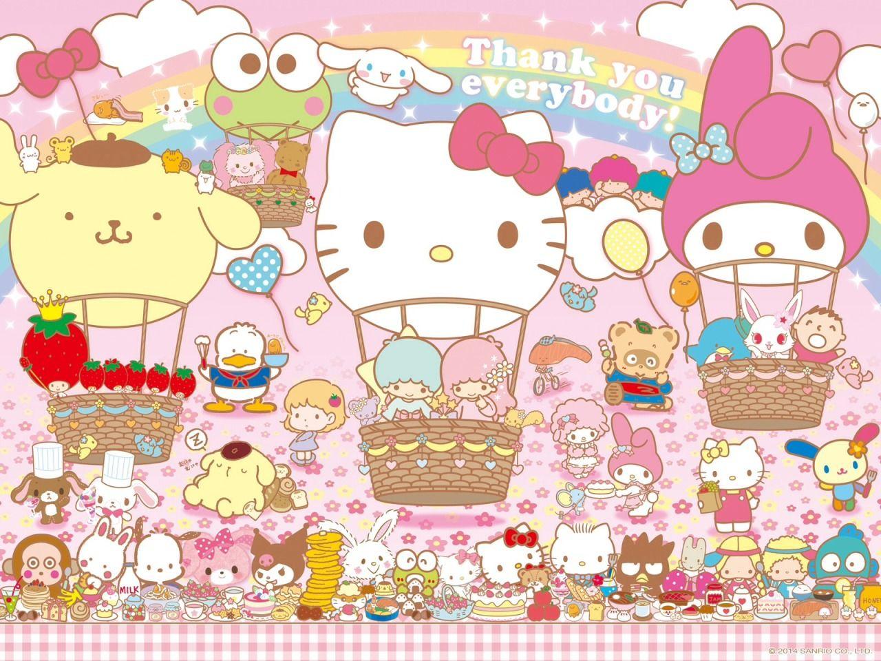 Sanrio & Balloons--the best combination ever!!!!! o(^▽^)o KawaiiBox.com ❤ The Cutest Subscription Box