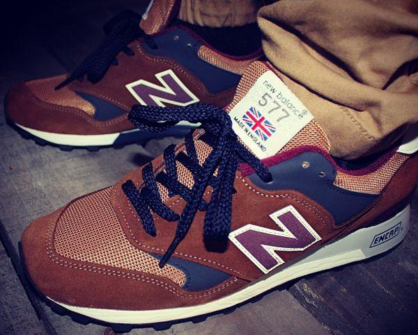 new balance 577 marron
