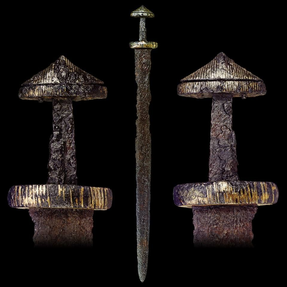 "myArmoury.com A fine Viking Sword with Hilt Inlaid with Gold, Silver and Copper, 9th century Blade length: 76 cm (29.9"")"