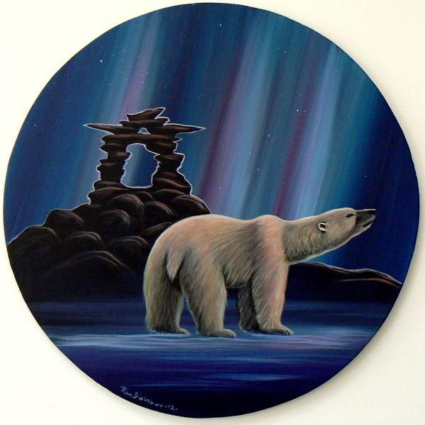 Arctic Lights By Ron Disbrowe Contemporary Canadian Native