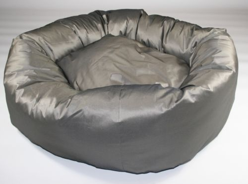 "Dog Bed, Donut Bed,Silver, Heavy Duty ,38"" Diameter, Extra Large 