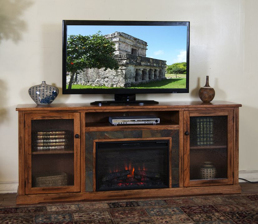 Phenomenal Sd 3488Ro 80R 80 Sedona Rustic Oak Fireplace Tv Stand For Download Free Architecture Designs Estepponolmadebymaigaardcom