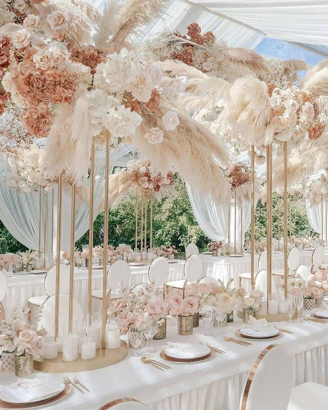 20 Amazing Hanging Greenery Floral Wedding Decorations For: 20 Bohemian Pampas Grass Wedding Ideas In 2020