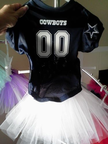 Dallas Cowboys Jersey Tutu Set White Skirt  might have to have this for my  flower girl  3 7f64ca241