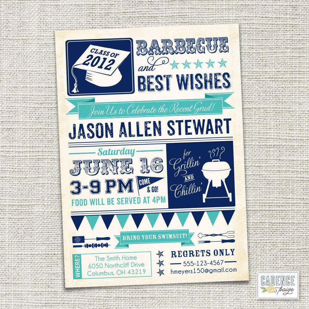 Graduation party invitation bbq printable by cadencepaige on etsy graduation party invitation bbq printable by cadencepaige on etsy filmwisefo Images