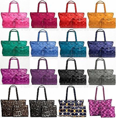 ... ireland love all the different colors coach signature nylon packable  weekender bag duffle travel tote 5b26c fe7578d61ba62