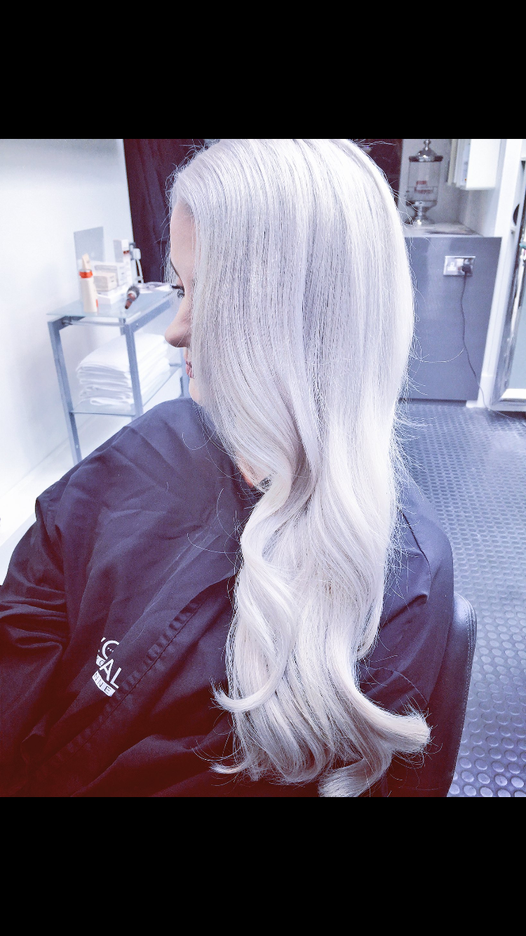 Icy Blonde Using Loreal Dialight 911 With Great Length Hair