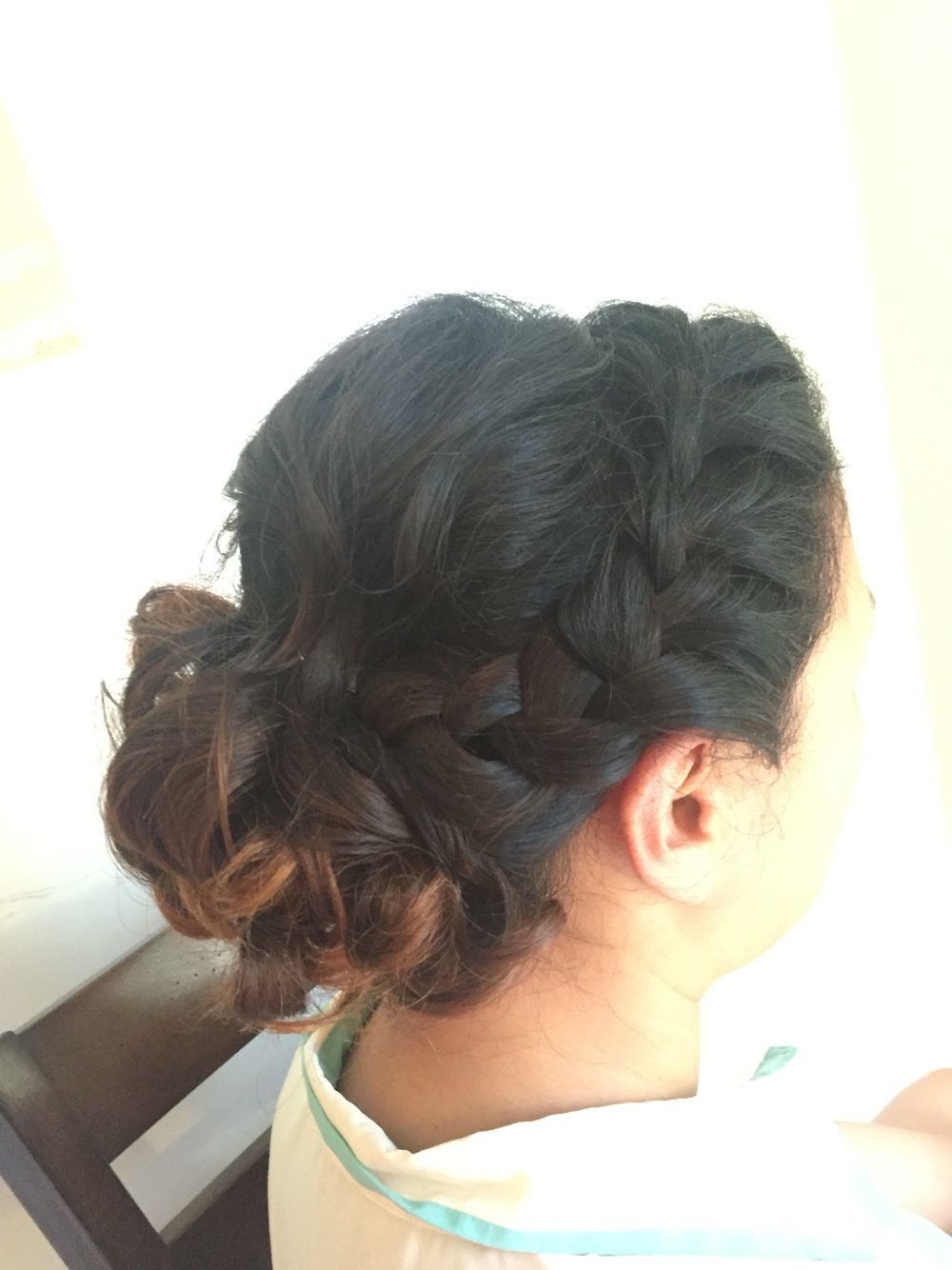 Braid Updo Braided updo, Hair color, Braids