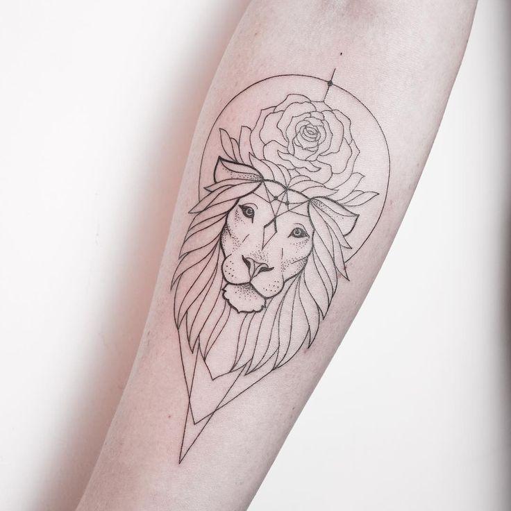 Image Result For Lion Tattoos Tumblr Tatuajes León Geométrico